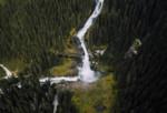 Wasserfälle Vogelperspektive