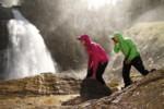 Sprühregen am Wasserfall